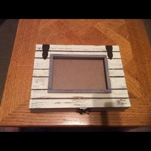 Distressed picture Frame & Wooden Box Combo